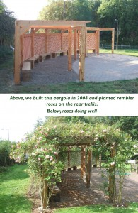 Hospice landscape design timber framed structures