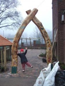 school grounds design, art and sculpture