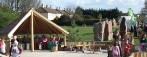 Natural Playscape Standing Stones installation