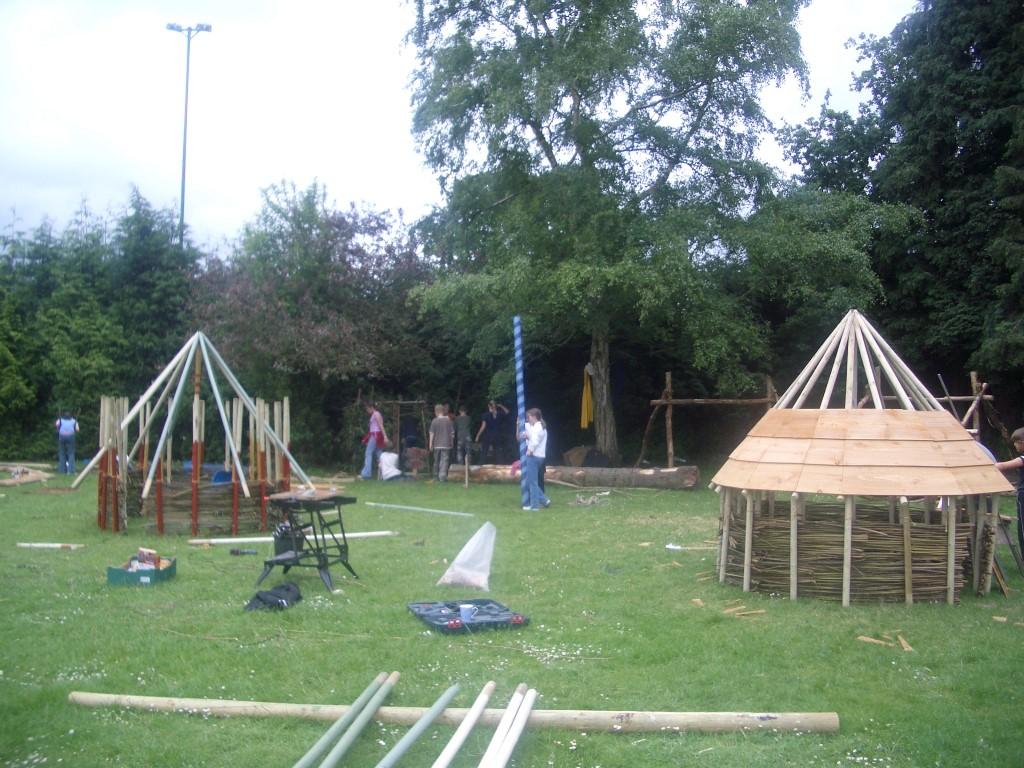 making medieval village
