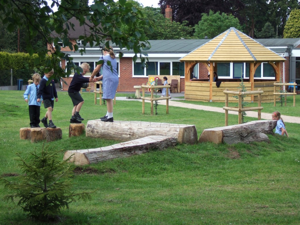 shelter for parents and outdoor classroom