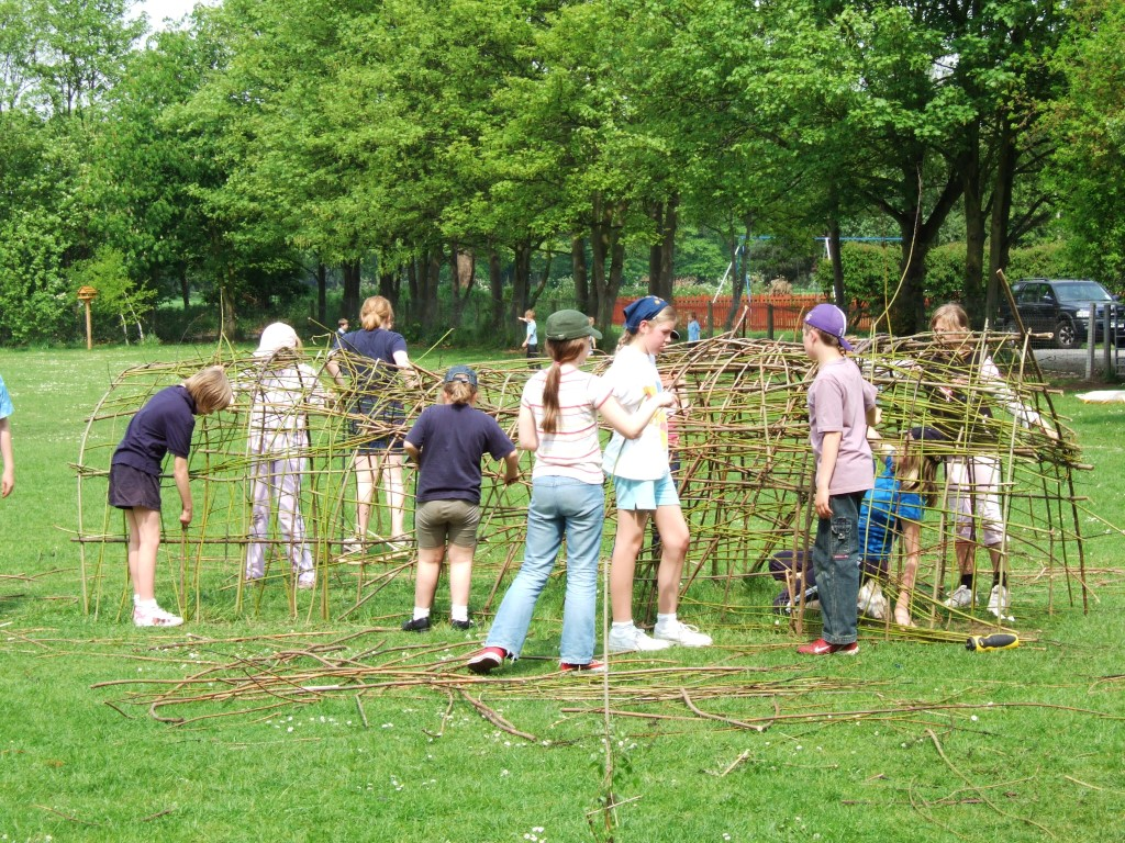 building a willow tunnel structure